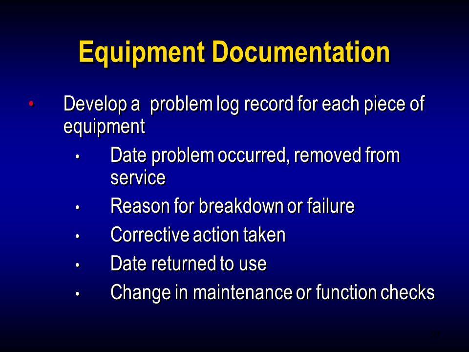 Equipment Documentation