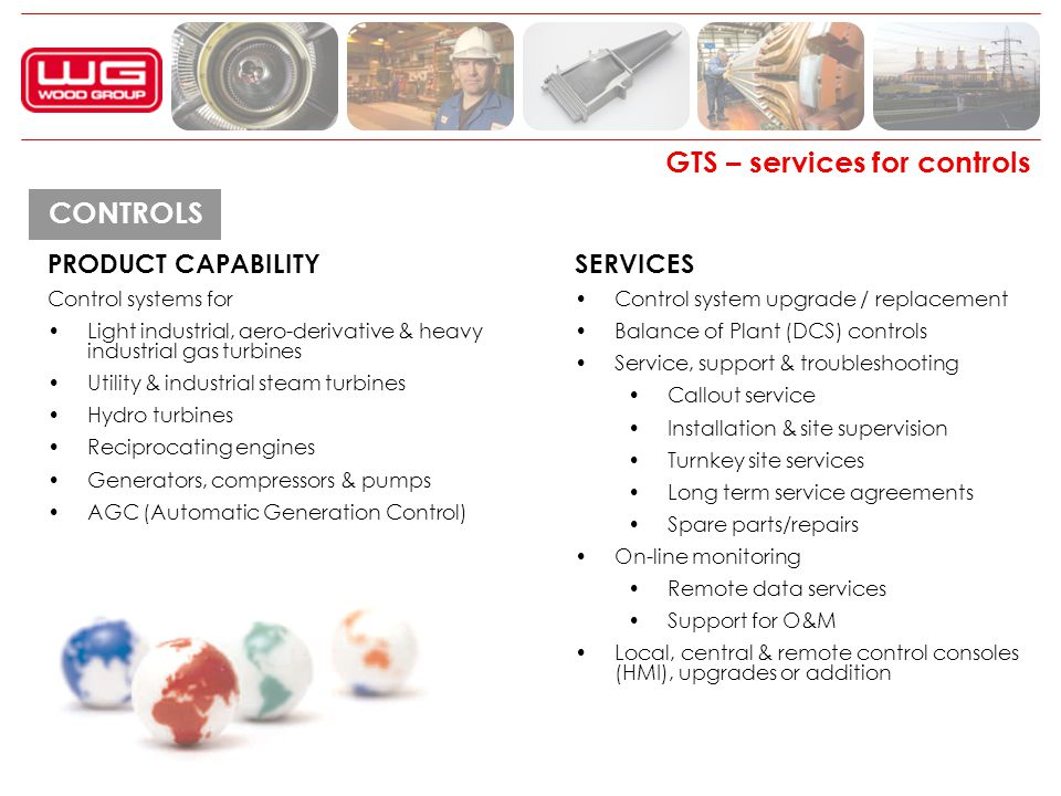 GTS – services for controls