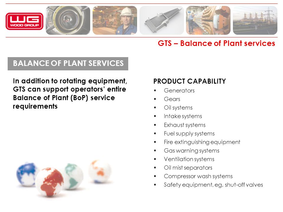GTS – Balance of Plant services