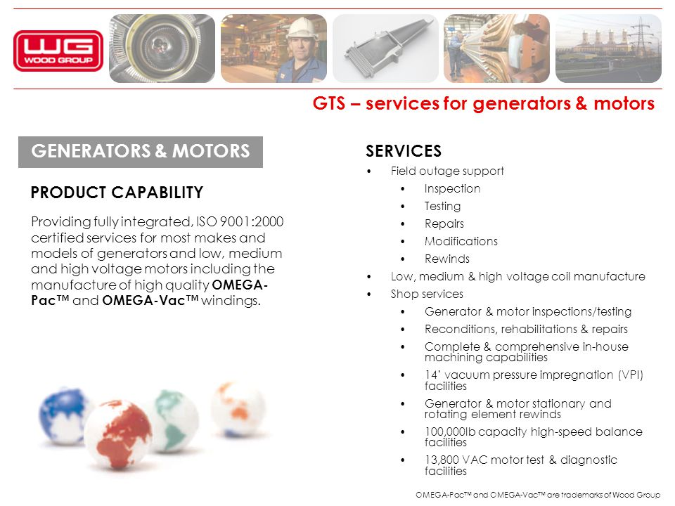 GTS – services for generators & motors