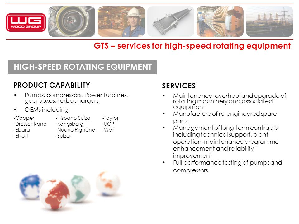 GTS – services for high-speed rotating equipment