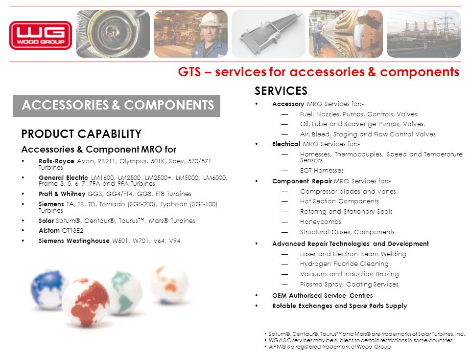GTS – services for accessories & components