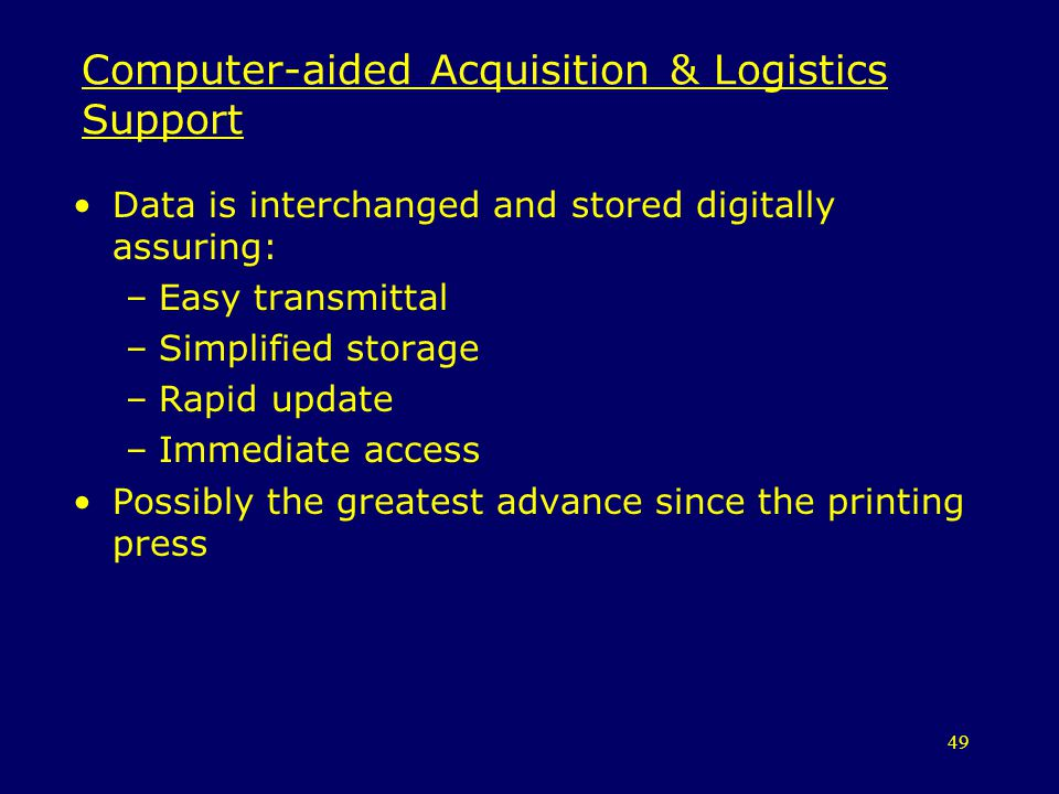Computer-aided Acquisition & Logistics Support