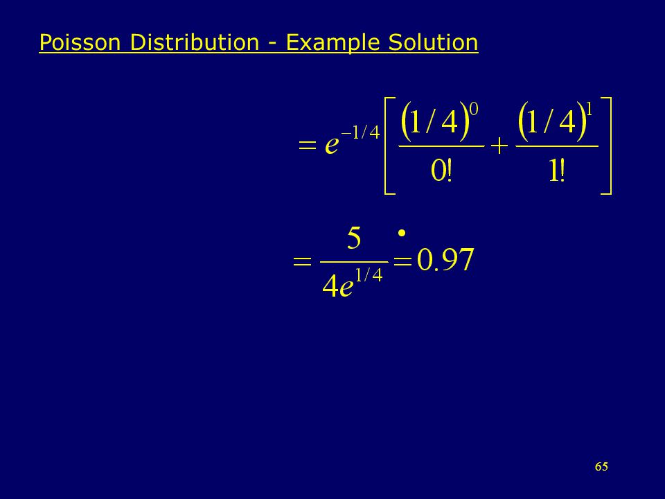 Poisson Distribution - Example Solution