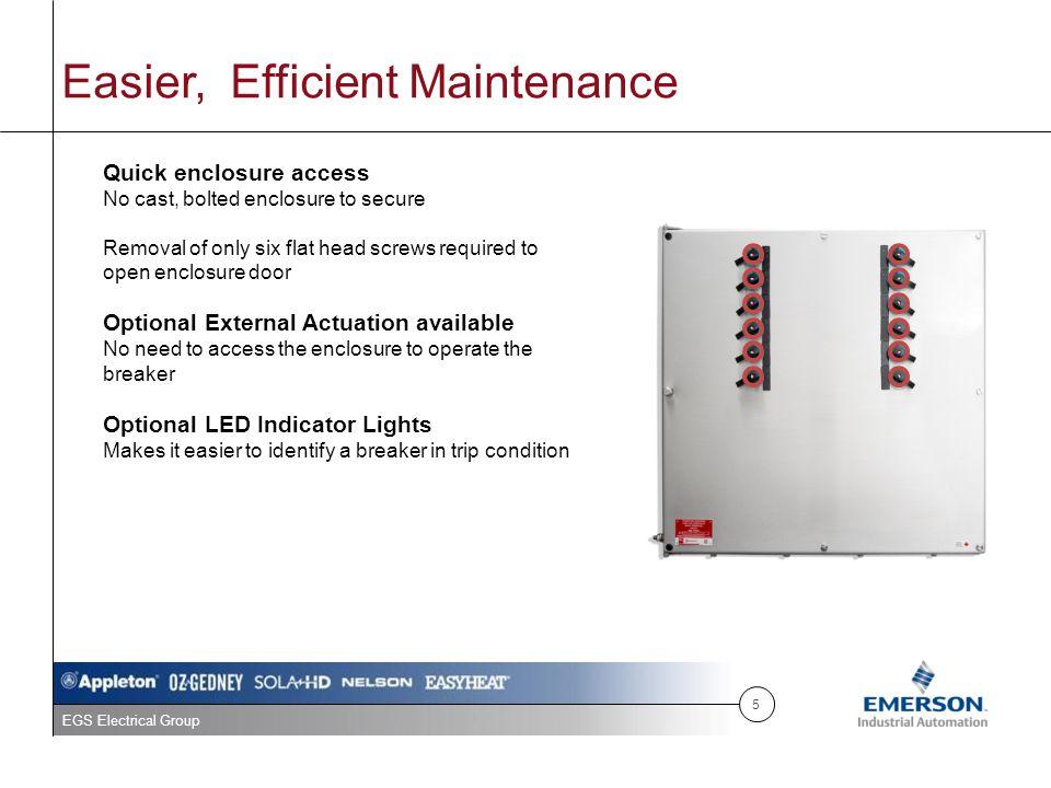 Easier, Efficient Maintenance