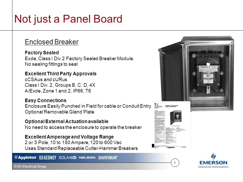 Not just a Panel Board Enclosed Breaker Factory Sealed