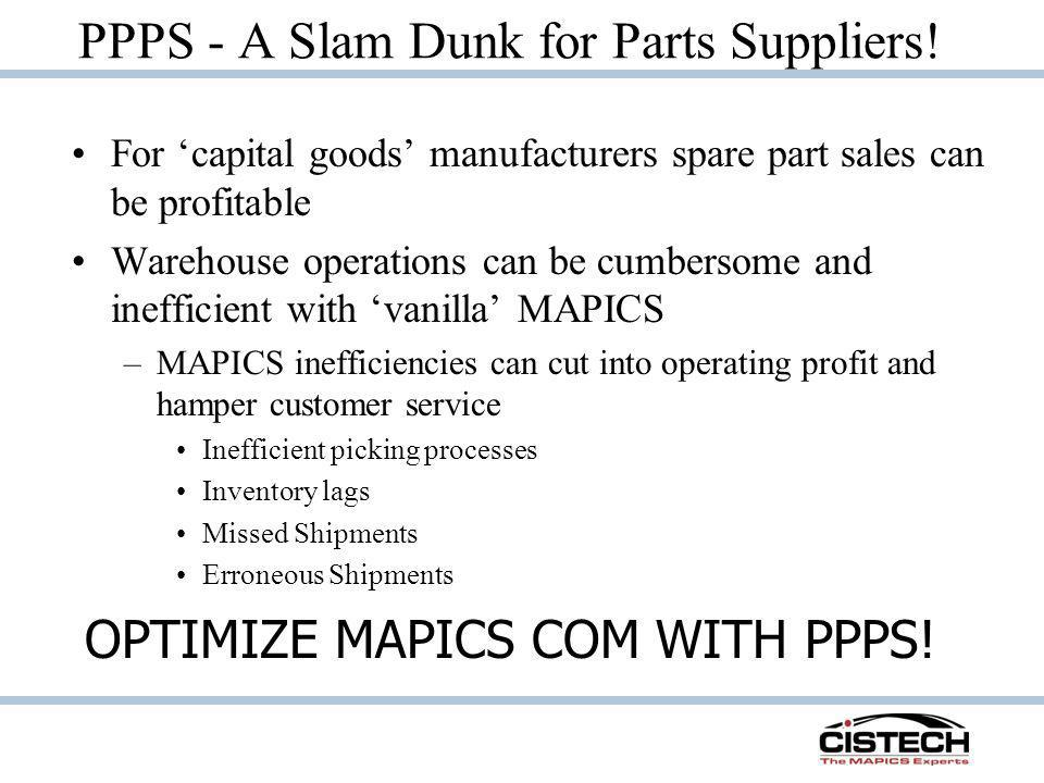 PPPS - A Slam Dunk for Parts Suppliers!