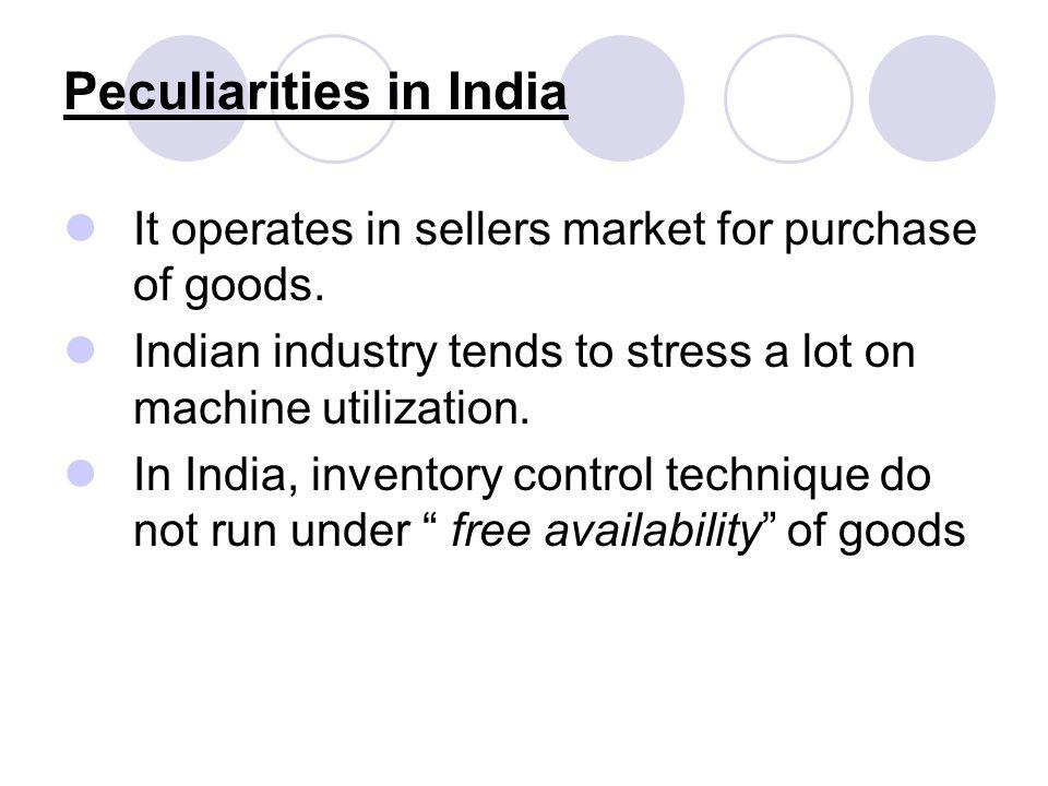 Peculiarities in India