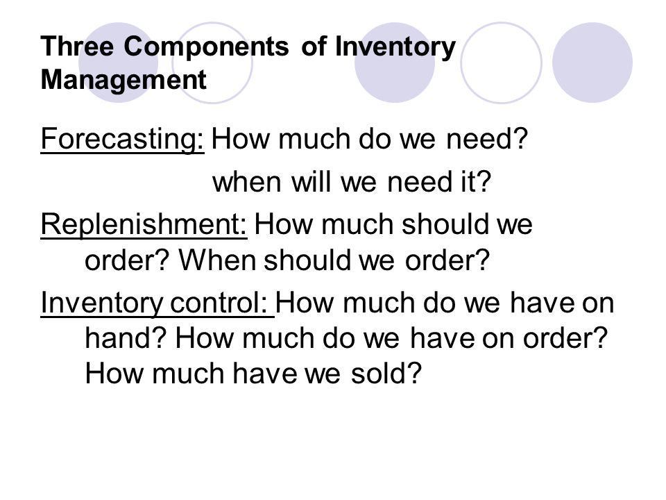 Three Components of Inventory Management