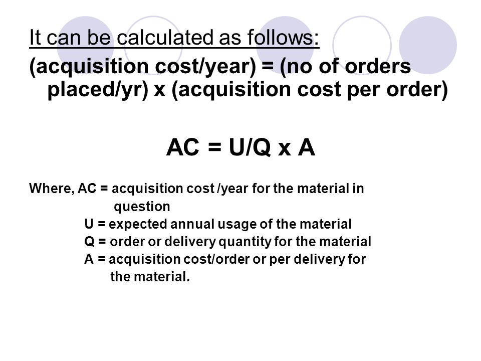 AC = U/Q x A It can be calculated as follows: