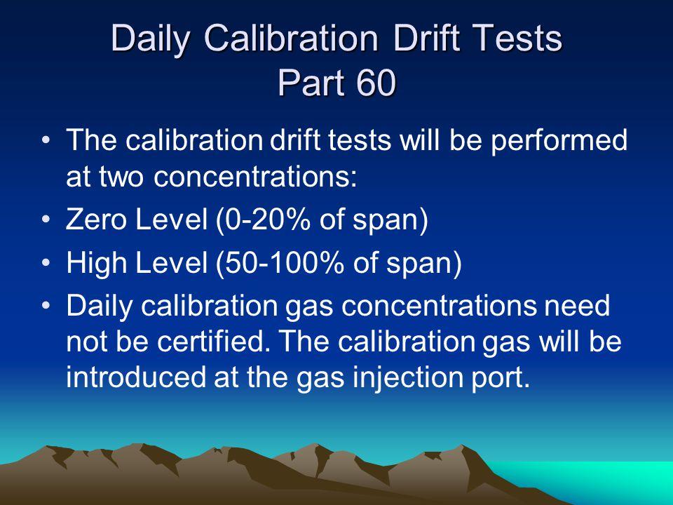 Daily Calibration Drift Tests Part 60