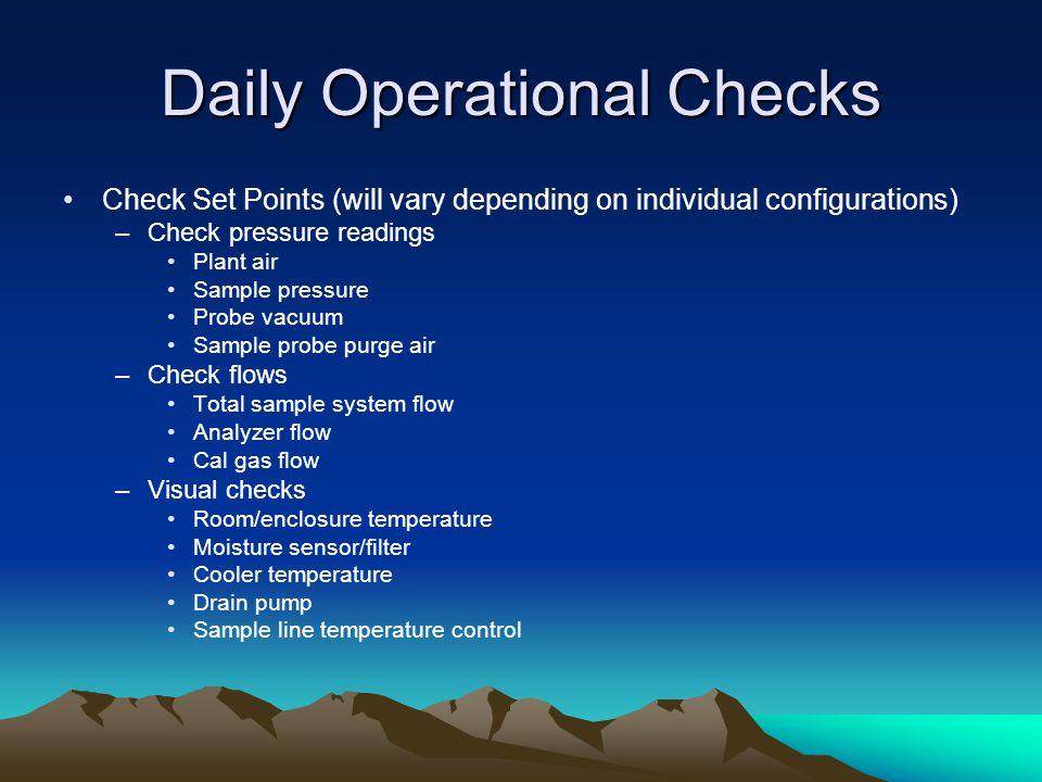 Daily Operational Checks