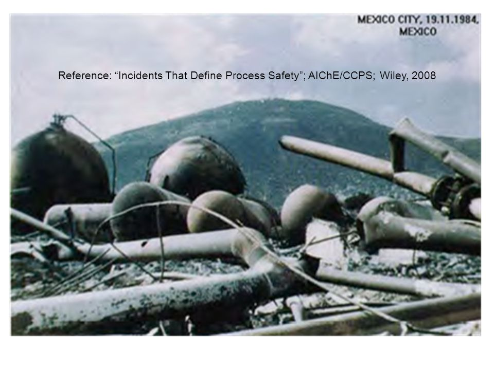 Reference: Incidents That Define Process Safety ; AIChE/CCPS; Wiley, 2008