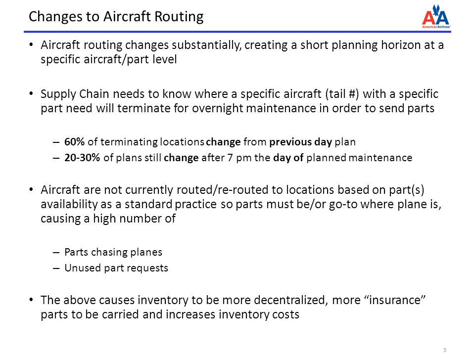 Changes to Aircraft Routing