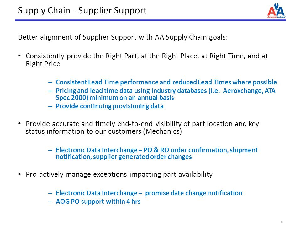 Supply Chain - Supplier Support