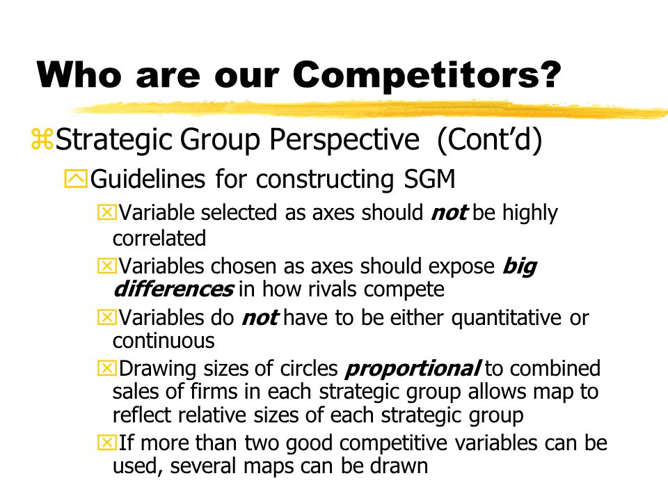 Who are our Competitors