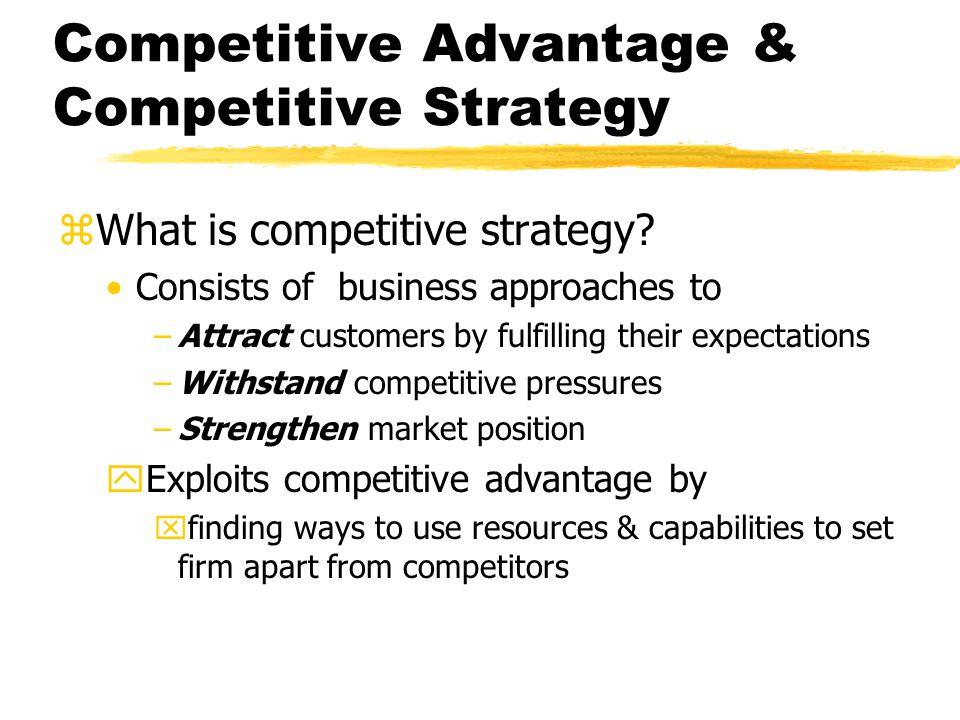 Competitive Advantage & Competitive Strategy