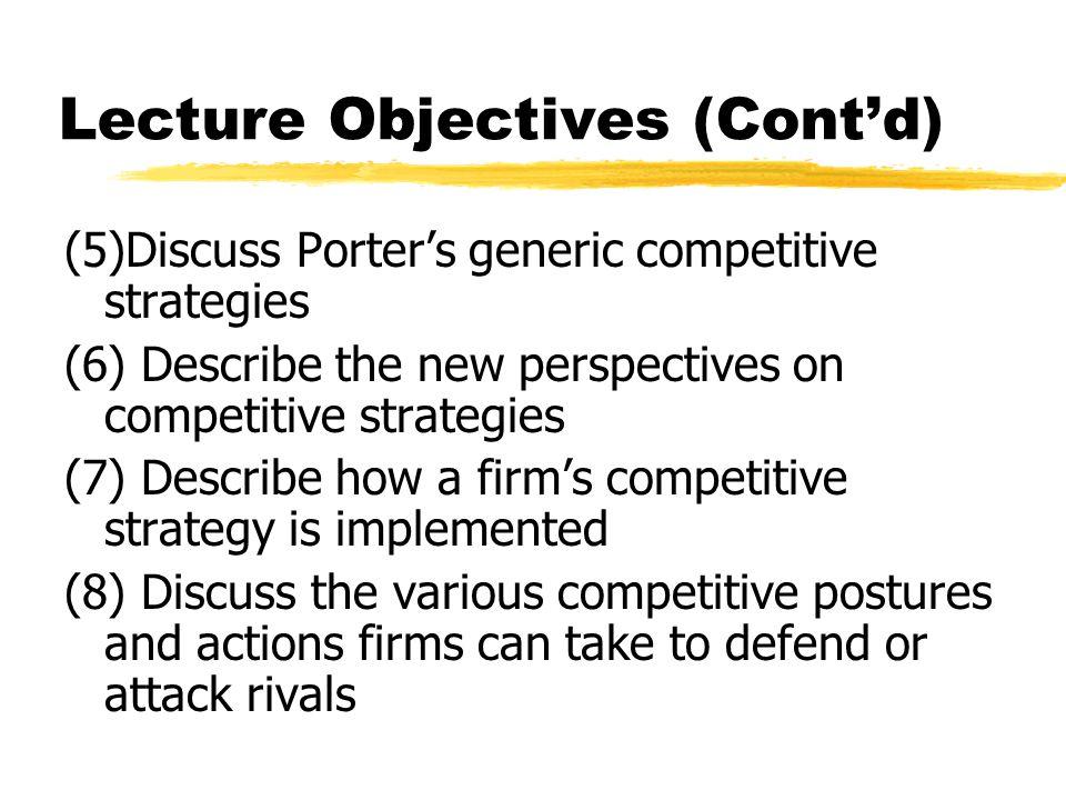 Lecture Objectives (Cont'd)