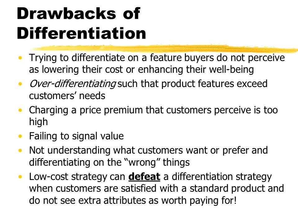 Drawbacks of Differentiation