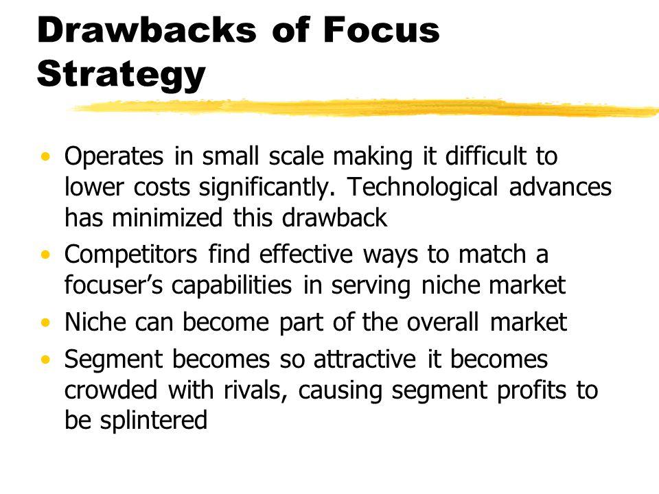 Drawbacks of Focus Strategy
