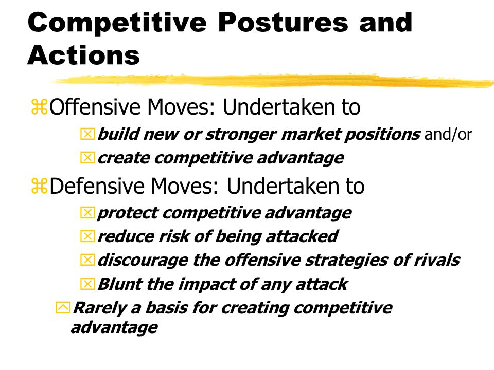 Competitive Postures and Actions