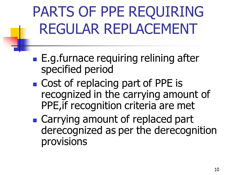 PARTS OF PPE REQUIRING REGULAR REPLACEMENT