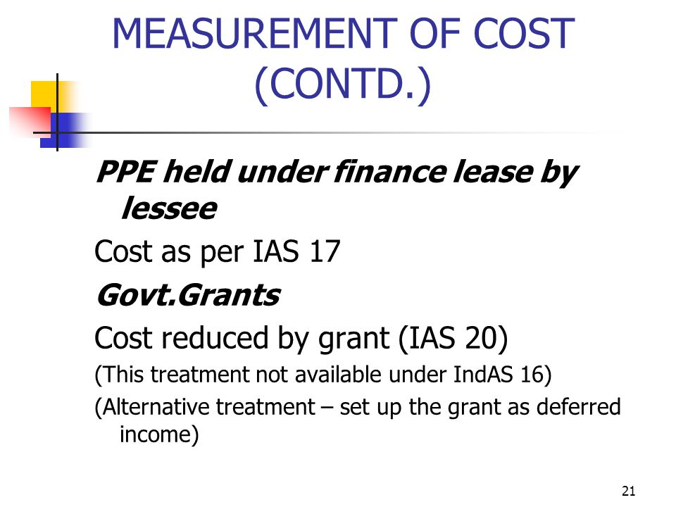 MEASUREMENT OF COST (CONTD.)