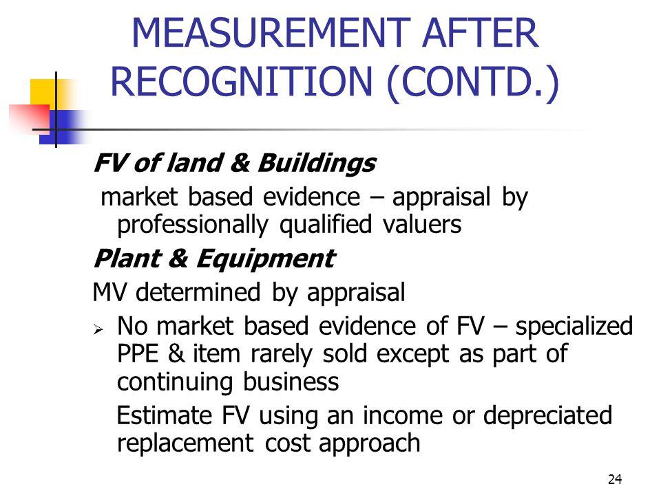 MEASUREMENT AFTER RECOGNITION (CONTD.)