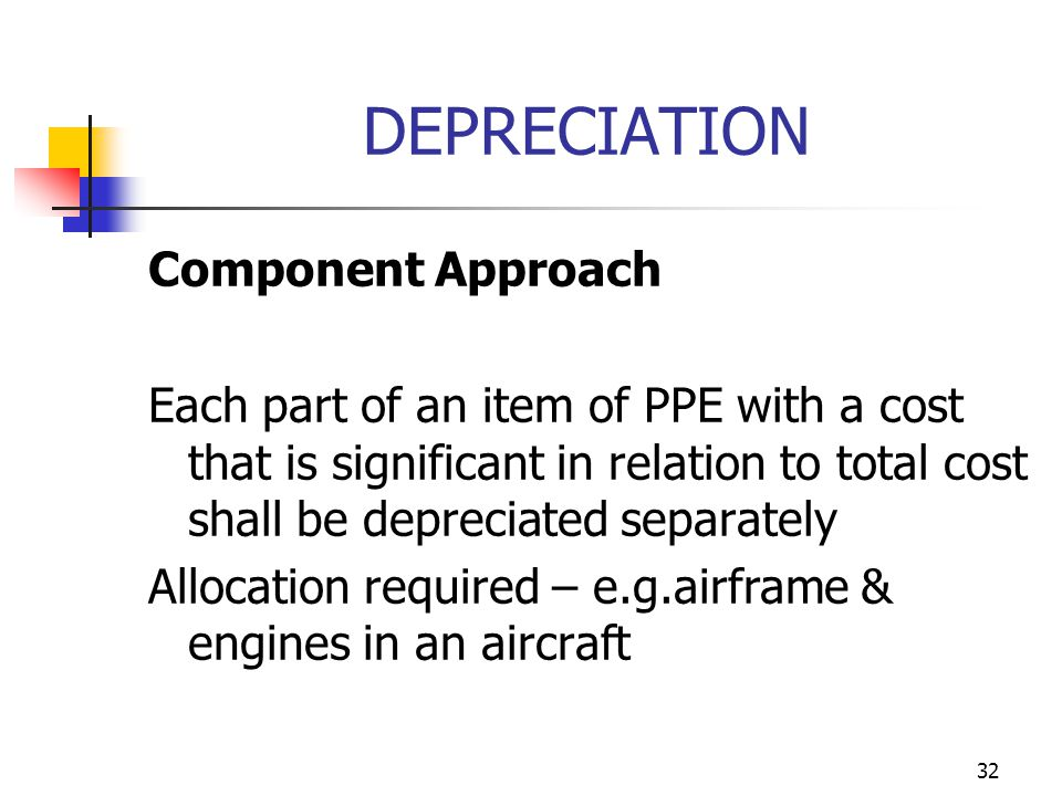 DEPRECIATION Component Approach