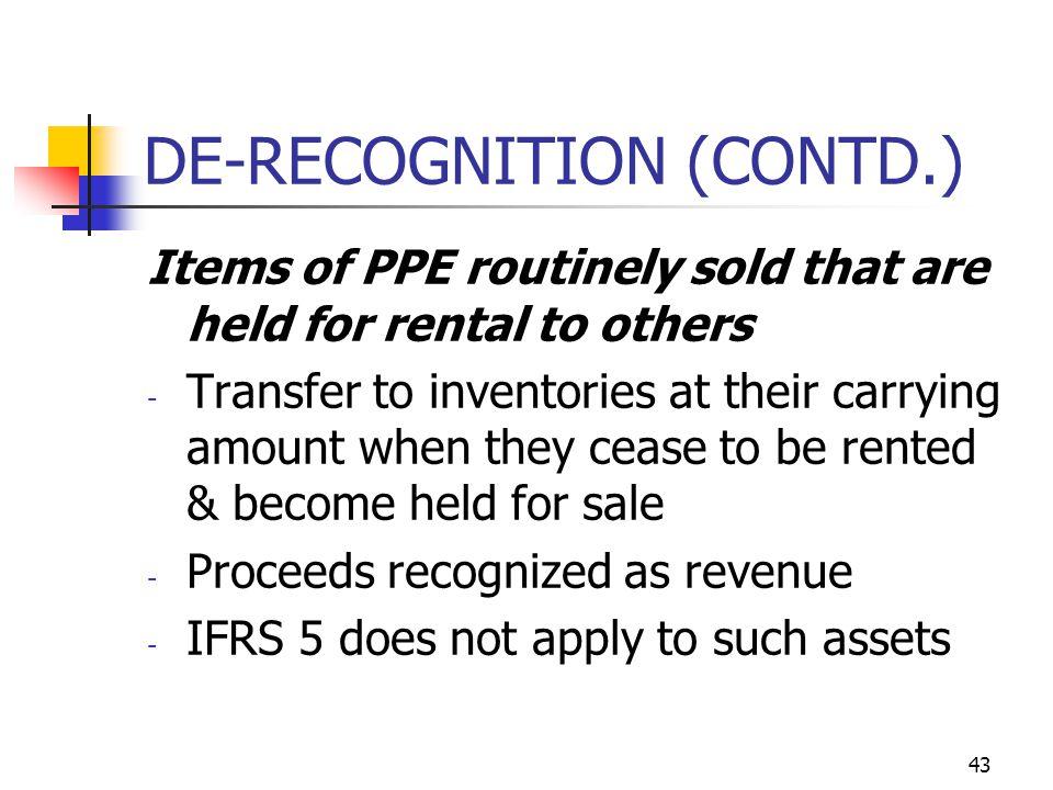 DE-RECOGNITION (CONTD.)