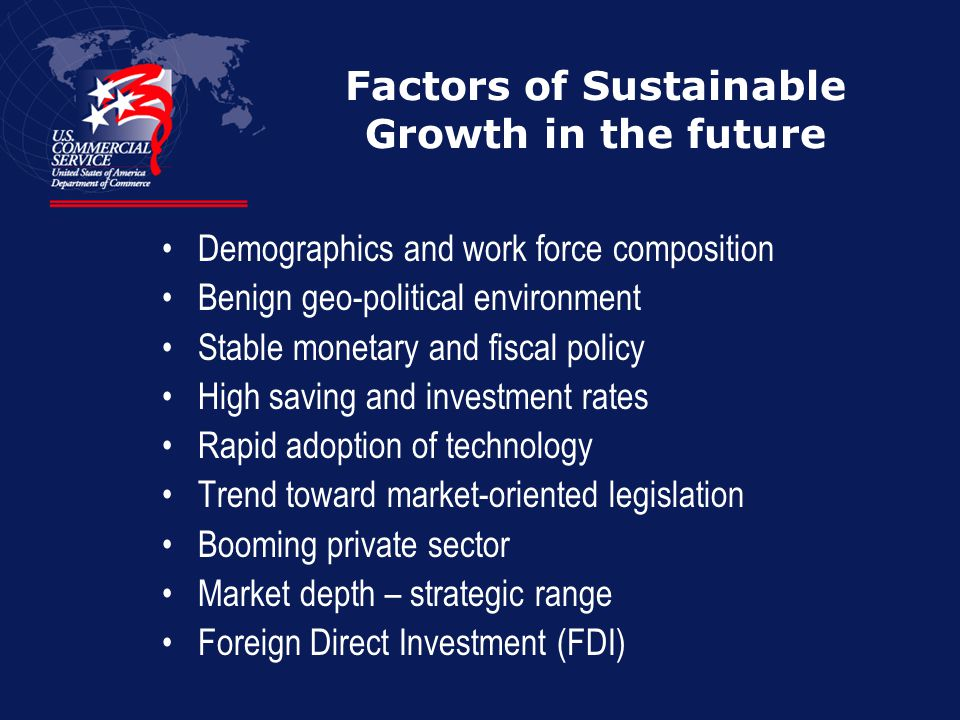 Factors of Sustainable Growth in the future