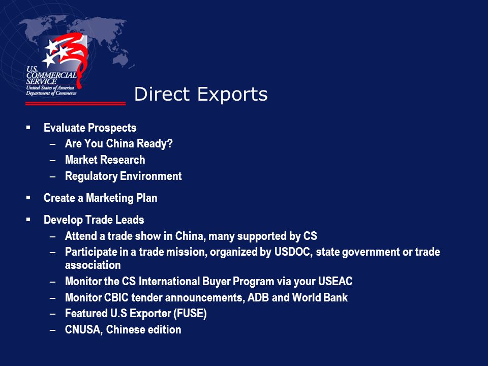 Direct Exports Evaluate Prospects Are You China Ready Market Research
