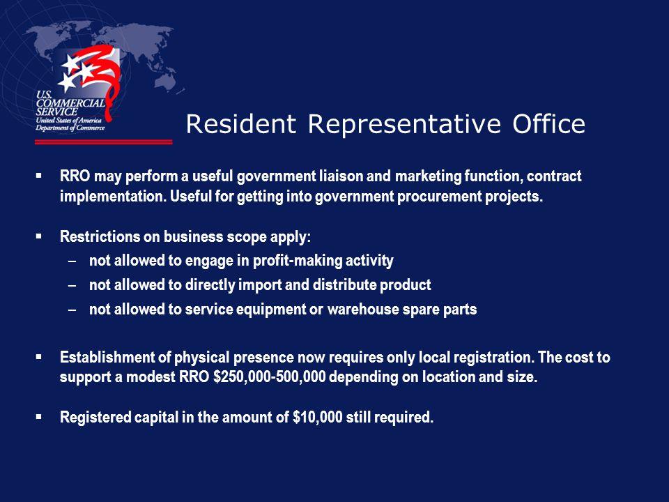 Resident Representative Office