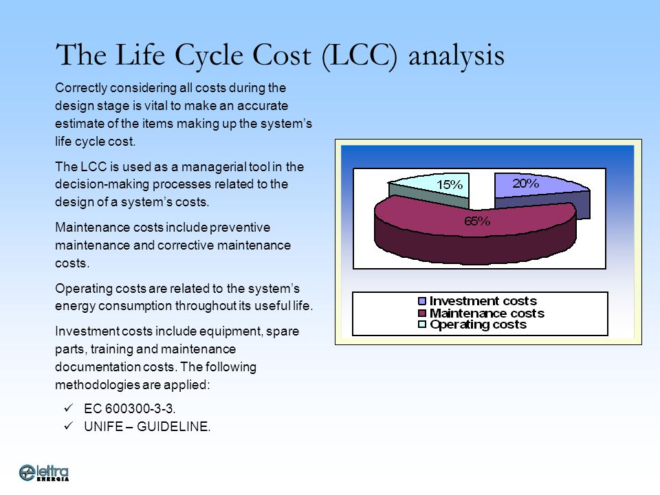 The Life Cycle Cost (LCC) analysis