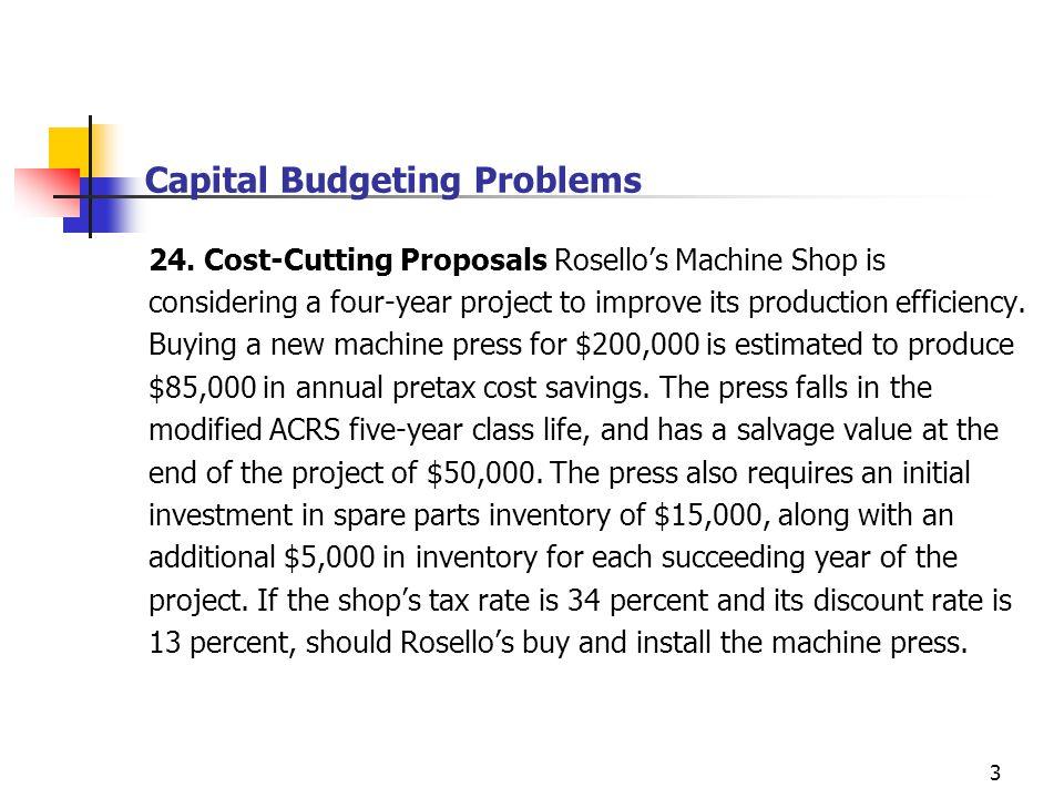 Capital Budgeting Problems