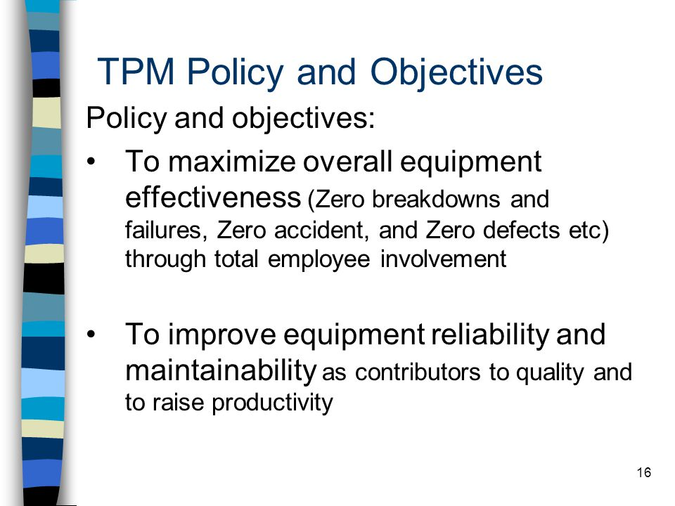 TPM Policy and Objectives