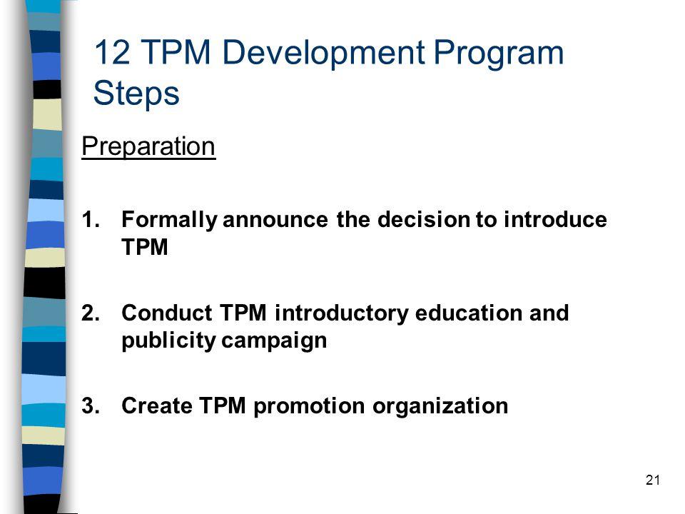 12 TPM Development Program Steps