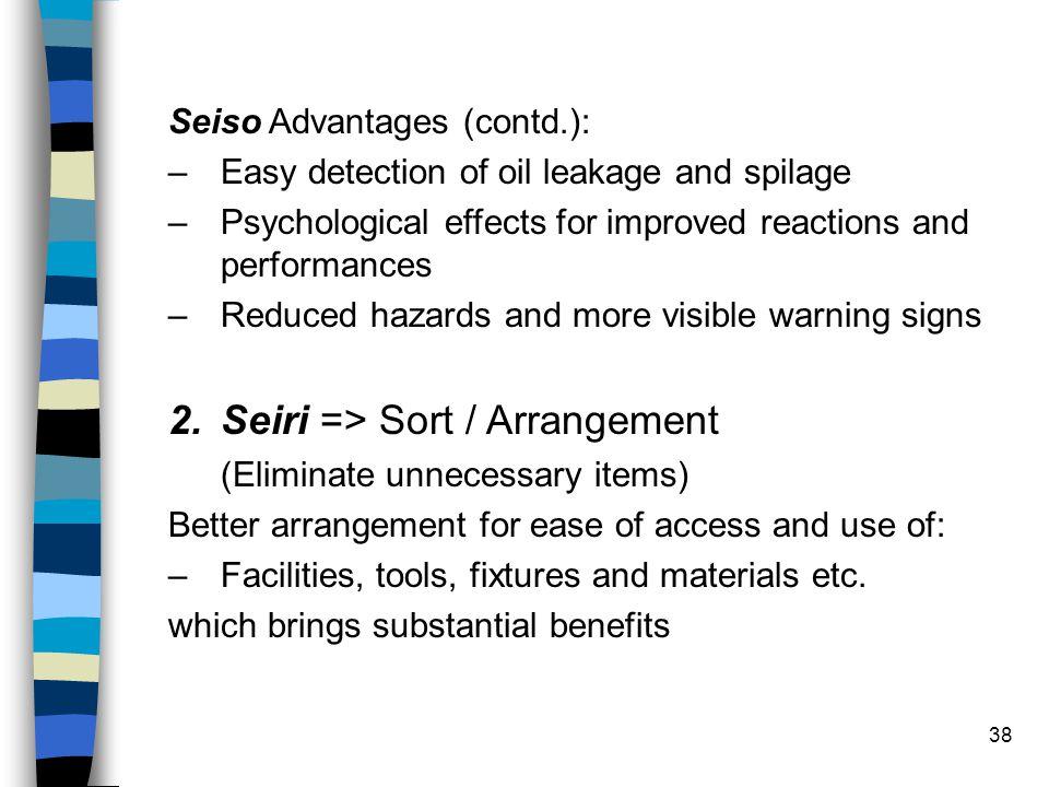 Seiri => Sort / Arrangement