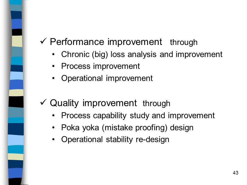 Performance improvement through