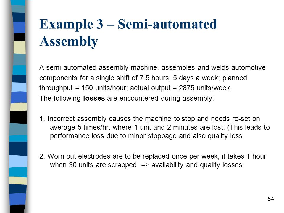 Example 3 – Semi-automated Assembly