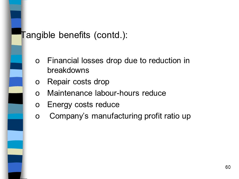 Tangible benefits (contd.):