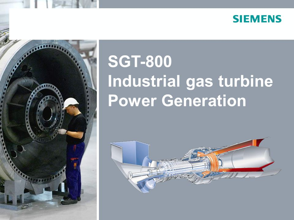 SGT-800 Industrial gas turbine Power Generation