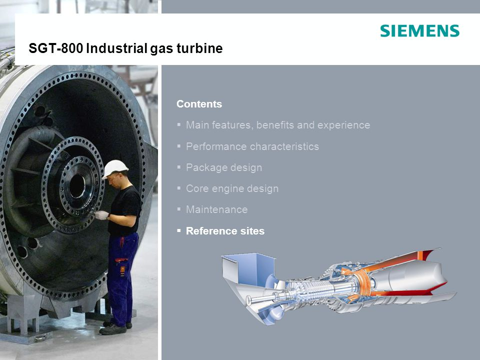 SGT-800 Industrial gas turbine