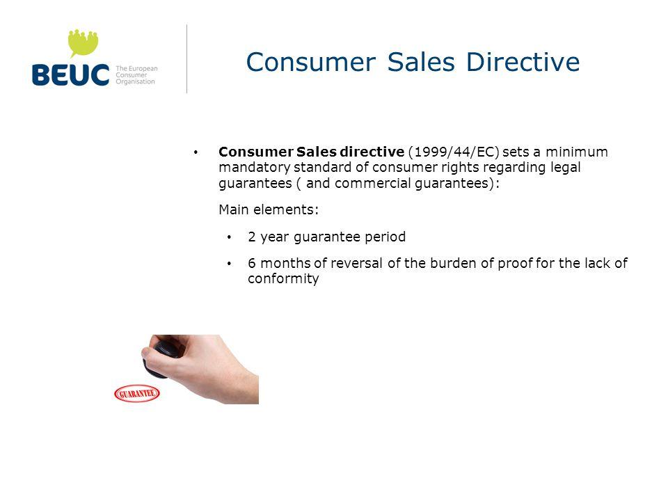Consumer Sales Directive