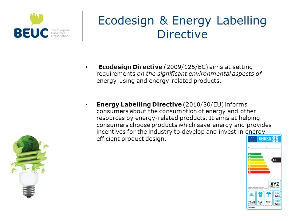 Ecodesign & Energy Labelling Directive