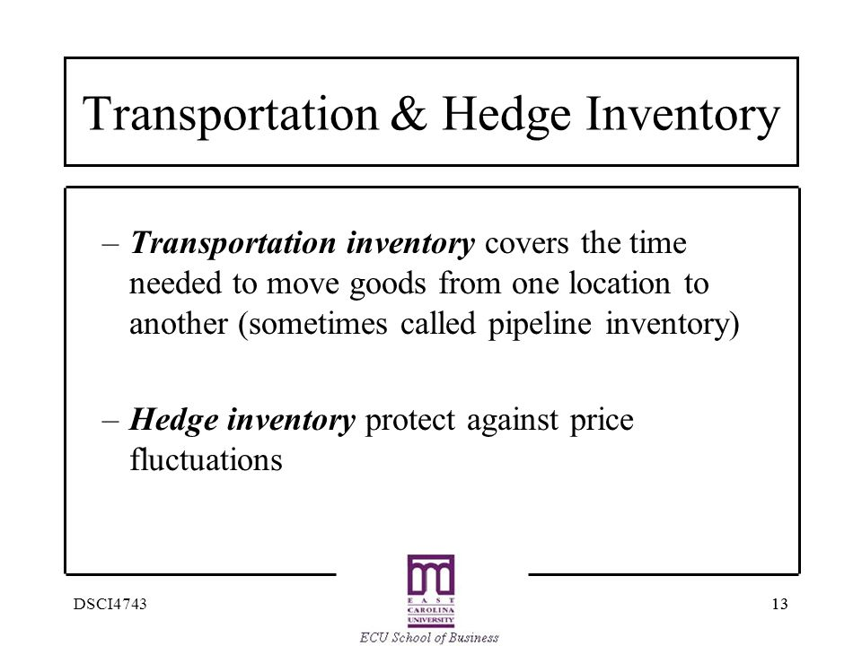 Transportation & Hedge Inventory