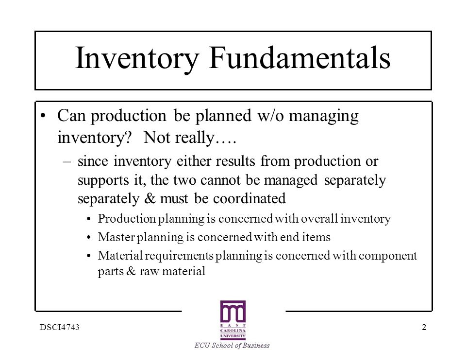 Inventory Fundamentals