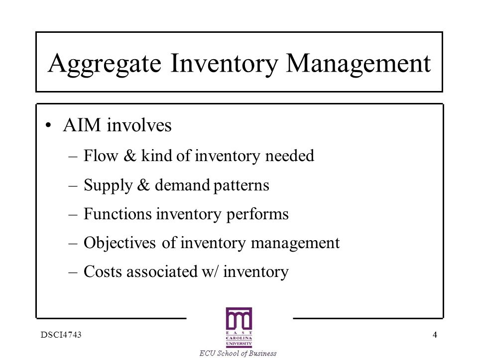 Aggregate Inventory Management