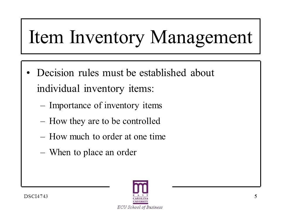 Item Inventory Management