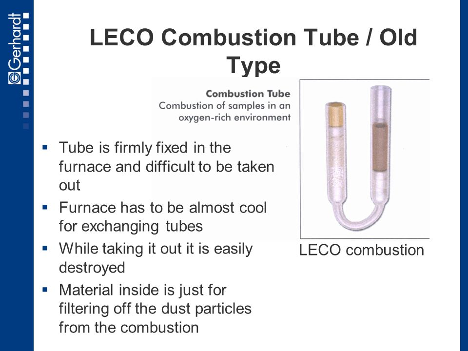 LECO Combustion Tube / Old Type